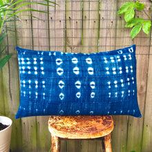 Load image into Gallery viewer, .PALE. 16x26 Mudcloth Cushion - True Blue