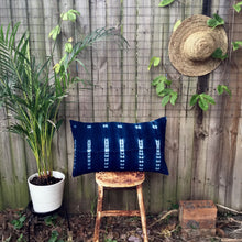 Load image into Gallery viewer, .PALE. 16x26 Mudcloth Cushion - Deep Blue