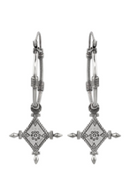 Load image into Gallery viewer, Silver Imani Tribal Hoops
