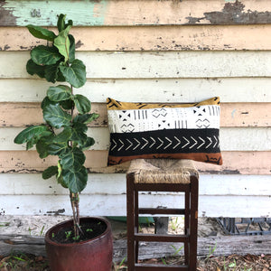 .PALE. 16x26 Mudcloth Cushion - African Patch