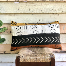 Load image into Gallery viewer, .PALE. 16x26 Mudcloth Cushion - African Patch