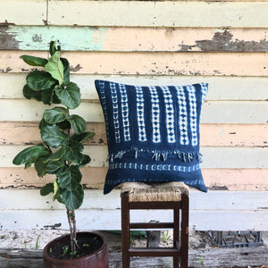 .PALE. 26x26 Mudcloth Cushion - Casual Blue