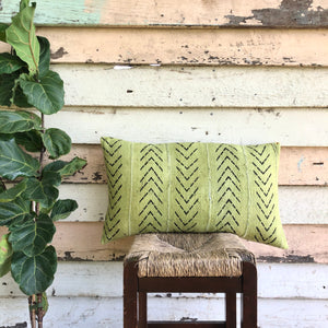 .PALE. 16x26 Mudcloth Cushion - Chartreuse