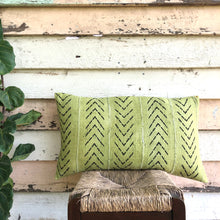 Load image into Gallery viewer, .PALE. 16x26 Mudcloth Cushion - Chartreuse