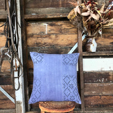 Load image into Gallery viewer, .PALE. 20x20 Mudcloth Cushion - Periwinkle