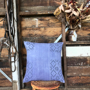 .PALE. 20x20 Mudcloth Cushion - Periwinkle