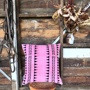 .PALE. 20x20 Mudcloth Cushion - Pink Panther