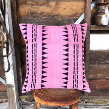 Load image into Gallery viewer, .PALE. 20x20 Mudcloth Cushion - Pink Panther