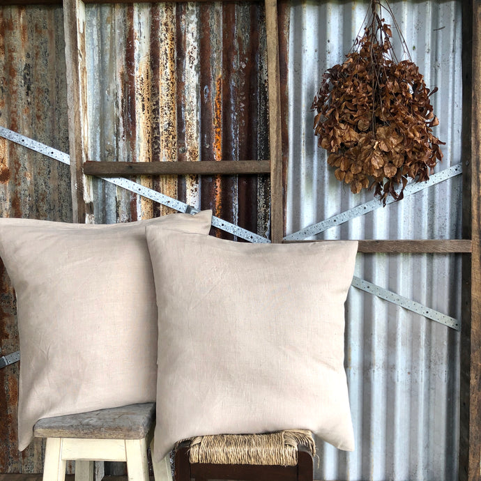 .PALE. Linen Cushion - Oatmeal