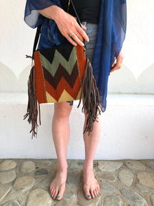 MZ Mountain Chevron Tassel Bag