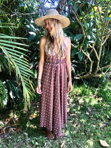 Noosa Maxi Dress in Ruby Dots