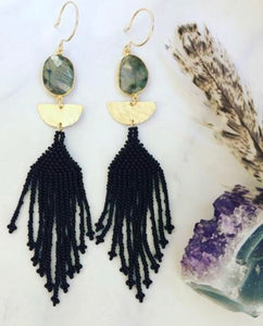 Bad Moon Beaded Earrings