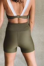 Load image into Gallery viewer, Piper Bike Shorts -Olive Rib