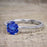1.25 Carat Round Cut Sapphire and Diamond Wedding Ring Set in White Gold
