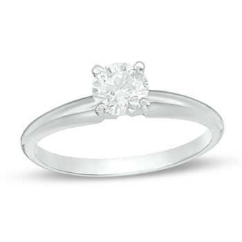 1/4 CT.T.W. Round Cut Diamond Aesthetic Engagement Ring in White Gold