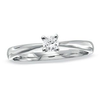 Classic Love 1/4 CT.T.W. Round Cut Solitaire Engagement Ring in White Gold