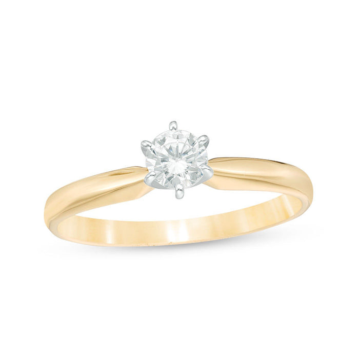 0.25 CT. T.W. Round Cut Diamond Vintage Engagement Ring