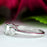 1 Carat Round Cut Three Stones Engagement Ring in White Gold Over Sterling Silver