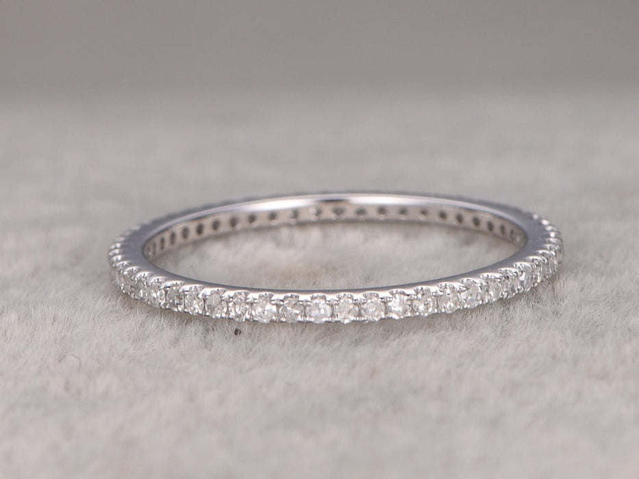 .50 Carat Round Cut Diamond Wedding Ring Band Eternity in White Gold