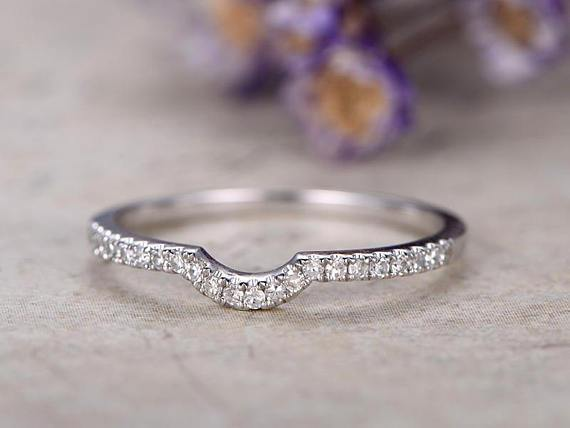.25 Carat Beautiful Round Cut Diamond Wedding Ring Band in White Gold
