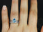 Perfect 2 Carat Pear Cut Aquamarine and Diamond Trio Ring Set with Engagement Ring and 2 Wedding Bands in White Gold.