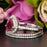 2 Carat Pear Cut Ruby and Diamond Trio Wedding Ring Set in 9k White Gold for Modern Brides
