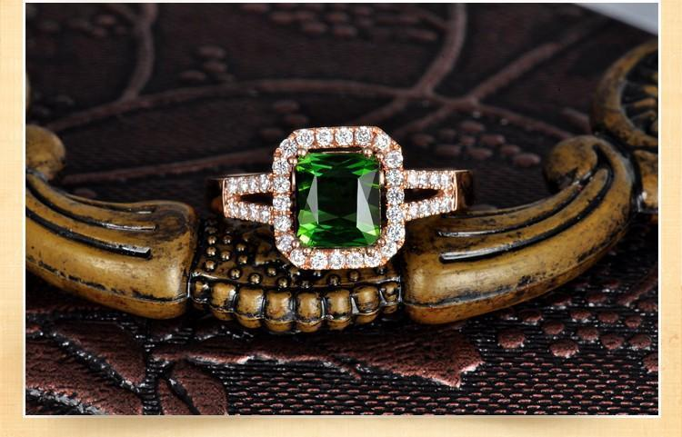 2 Carat cushion cut Emerald and Diamond Engagement Ring