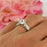 1.25 Carat Princess Cut Engraved Engagement Ring in White Gold over Sterling Silver