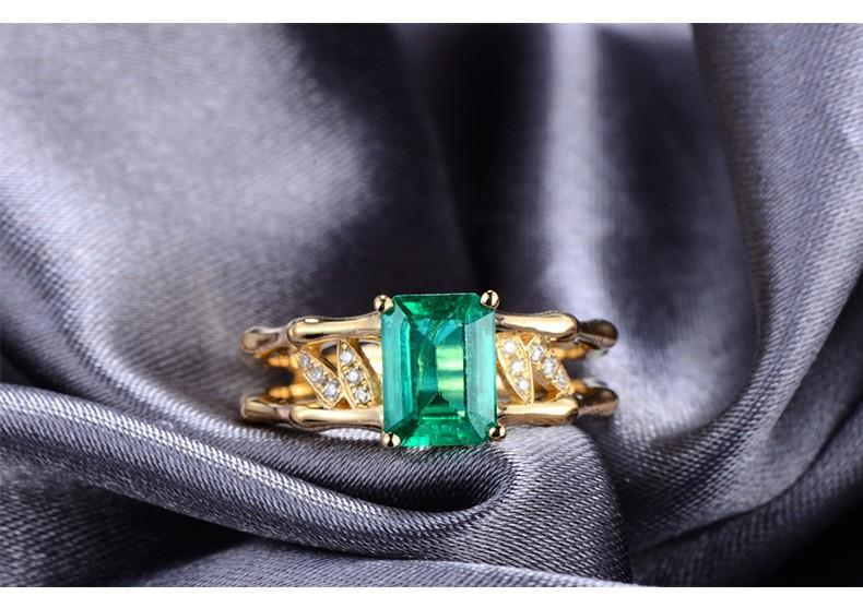 2.25 Carat Emerald and Diamond Halo Engagement Ring
