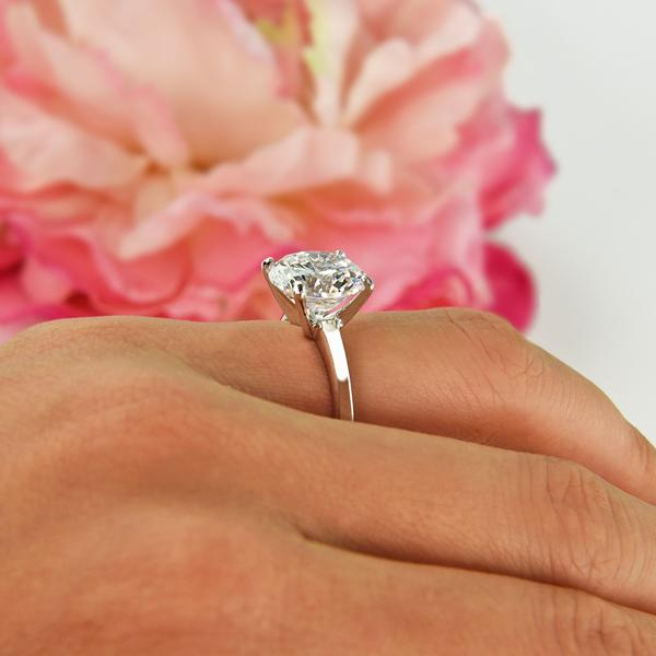 Final Sale 5 Carat Round Cut Classic Solitaire Engagement Ring in White Gold over Sterling Silver