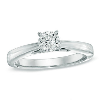 Classic 0.25 Carat Round Cut GIA Certified Diamond in White Gold