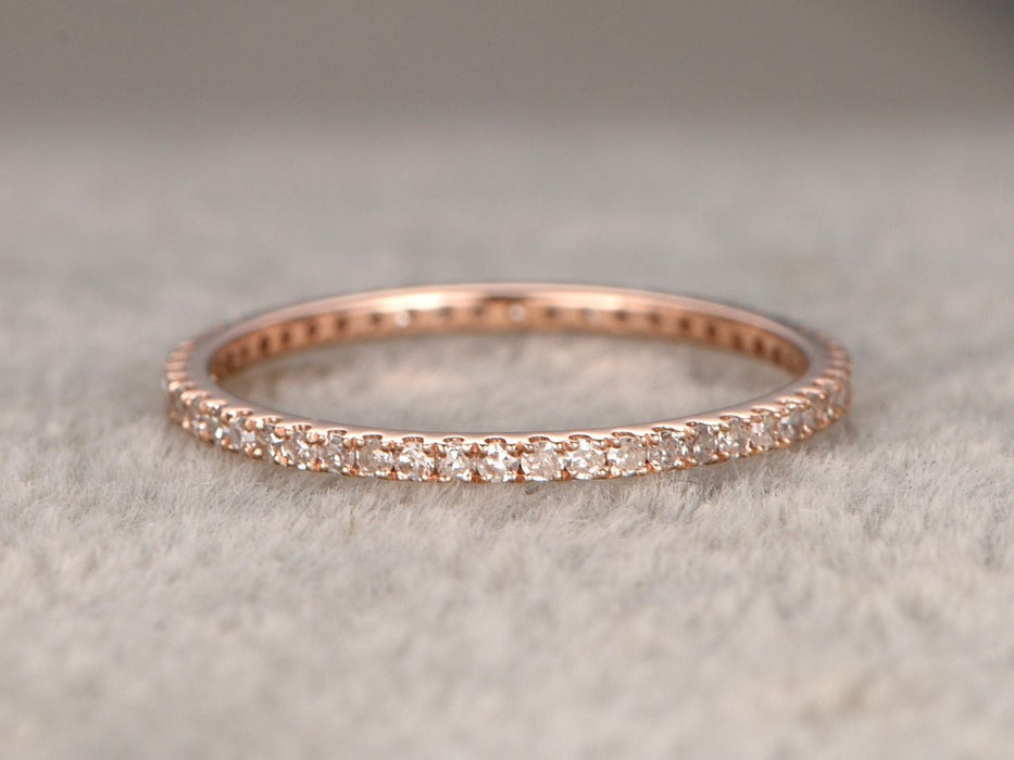 .50 Carat Eternity Wedding Ring Band for Women in Rose Gold