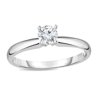 2/5 CT.T.W. Round Cut Diamond Aesthetic Engagement Ring in White Gold