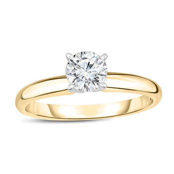 2/5 CT.T.W. Round Cut Diamond Aesthetic Engagement Ring in Yellow Gold