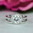 1.5 Carat Round Cut Art Deco Halo Bridal Ring Set in White Gold over Sterling Silver