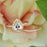 2 Carat Pear Cut Art Deco Halo Bridal Ring Set in Rose Gold over Sterling Silver