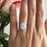 3 Carat Oval Cut Double Halo Engagement Ring in White Gold over Sterling Silver