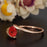 1.25 Carat Round Cut Ruby and Diamond Engagement Ring in 9k Rose Gold Glamorous Ring