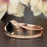 1.5 Carat Round Cut Black Diamond and Diamond Wedding Ring Set in 9k Rose Gold Glamorous Ring