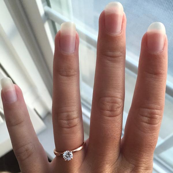 Minimal 0.25 Carat Round Cut Solitaire Engagement Ring in Rose Gold over Sterling Silver
