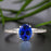 Flawless 1.25 Carat Oval Cut Sapphire and Diamond Engagement Ring in White Gold
