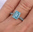 1 Carat Emerald Cut Aquamarine Solitaire Engagement Ring in White Gold