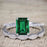 Vintage design 1.25 Carat emerald cut Emerald and Diamond Wedding Set for Women in White Gold