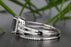 1.5 Carat Emerald Cut Black Diamond and Diamond Wedding Ring Set in 9k White Gold