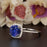 1.25 Carat Cushion Cut Halo Sapphire and Diamond Engagement Ring in White Gold Designer Ring