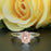 1.25 Carat Oval Cut Peach Morganite and Diamond Engagement Ring in White Gold Handmade Ring