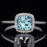 Bestselling 1.50 Carat Cushion Cut Aquamarine and Diamond Engagement Ring in White Gold