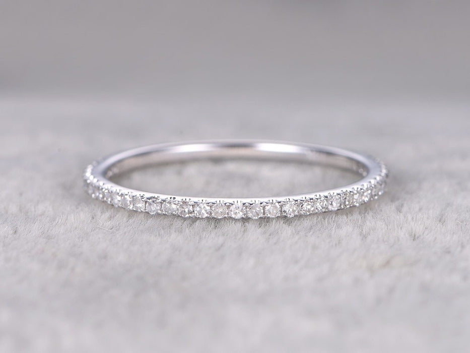 .25 Carat Round Cut Diamond Wedding Ring Band Semi Eternity in White Gold