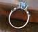 1.25 Carat oval cut Aquamarine and Diamond Engagement Ring in White Gold