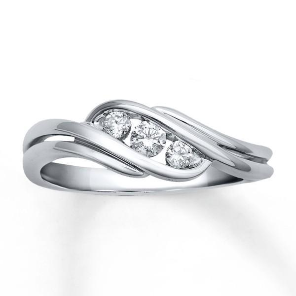 Beautiful 1/4 Carat Trilogy Engagement Ring